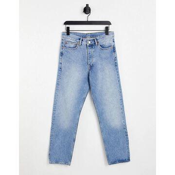 Dr Denim Dash straight jeans in light wash-Blues