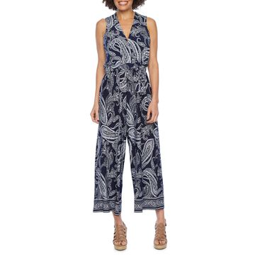 Studio 1 Sleeveless Paisley Print Jumpsuit