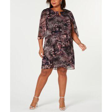 Plus Size Chiffon Dress