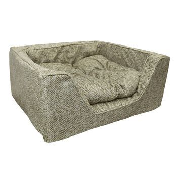 Snoozer Premium Micro Suede Square Palmer Citron Dog Bed