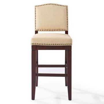 Crosley Furniture Bryson Bar Stool in Mahogany/Oatmeal