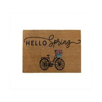 Elrene Hello Spring Bike Coir Doormat