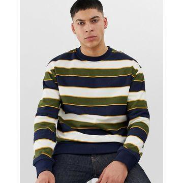 New Look sweatshirt in navy stripe