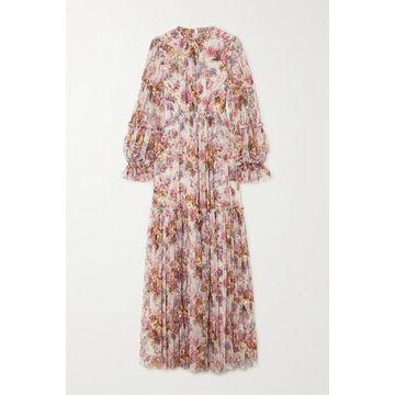 Needle & Thread - Jasmine Hemsley Harmony Sequin-embellished Floral-print Tulle Gown - Ecru