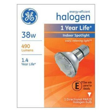 Ge Lighting 69164 Energy Efficient Par20 Halogen Spotlight Bulb, 38 Watt
