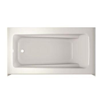 Jacuzzi Primo 32-in W x 60-in L Oyster Acrylic Rectangular Left Drain Alcove Soaking Bathtub in Off-White   P1S6032BLXXXXY