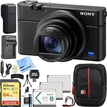 Sony Cyber-shot DSC-RX100M6 VI 4K Zeiss 24-200mm Lens Digital Camera and Case Bundle
