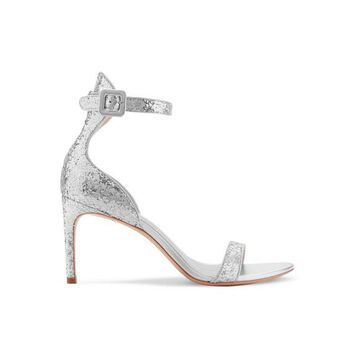 Sophia Webster - Nicole Glittered Leather Sandals - Silver