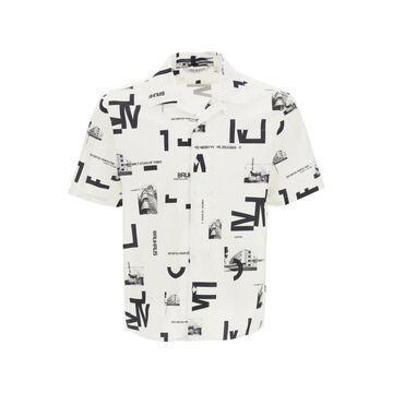 Neil barrett bauhaus print hawaiian shirt