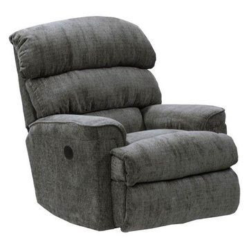 Chaise Rocker Recliner in Charcoal