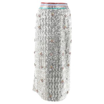 Mary Katrantzou Silver Polyester Skirts