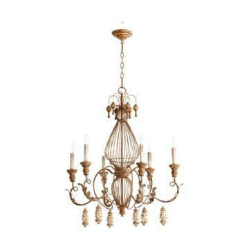 Quorum International 6306-6 Salento 6 Light 1 Tier Candle Style Chandelier