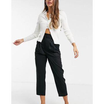 Monki Sadie tapered pants in black
