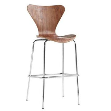 Fine Mod Imports Jays Bar Stool, Walnut