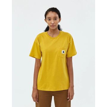 Carrie Pocket Tee in Yellow