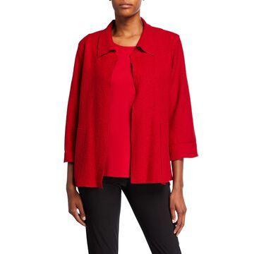 Paris Plush Mid-Length Easy Jacket
