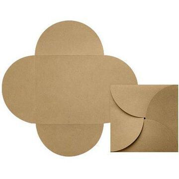 6 1/4 x 6 1/4 Petals - Grocery Bag Brown (190 Qty.)