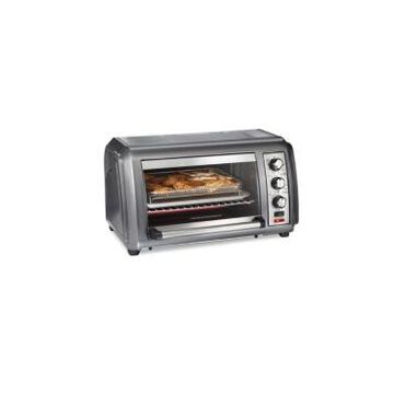 Hamilton Beach Sure-Crisp Air Fryer Countertop Toaster Oven with Easy Reach Door, 6 Slice Capacity