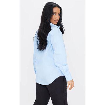 PrettyLittleThingIce Blue Printed Shirt