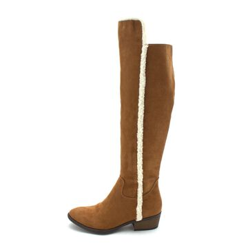MIA Womens fawn Fabric Almond Toe Knee High Fashion