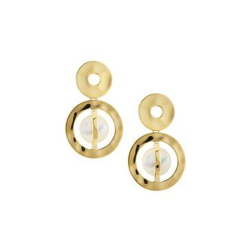 18K Senso Snowman Earrings in Mother-of-Pearl