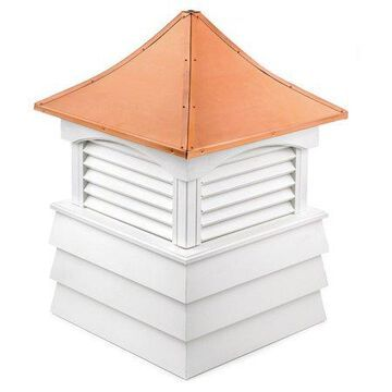 Good Directions Sherwood Vinyl Shiplap Cupola with Copper Roof - 22