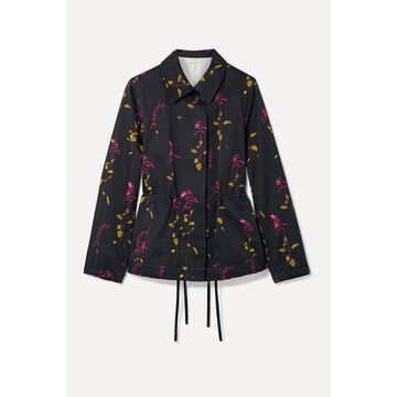 Dries Van Noten - Varella Floral-print Cotton-twill Jacket - Black