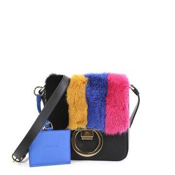 Salvatore Ferragamo Black Leather Handbags