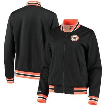 Baltimore Orioles Mitchell & Ness Women's Full-Zip Mesh Track Jacket - Black