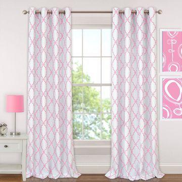Elrene Candice Juvenile Blackout Window Panels Blackout Grommet-Top Curtain Panel
