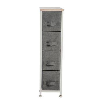 Simplify 4 Drawer Narrow Storage Chest, Grey