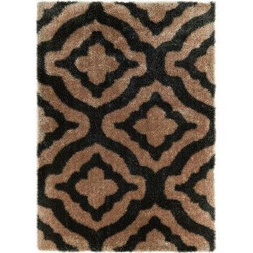 Well Woven Feather Jesse Trellis Shag Area Rug