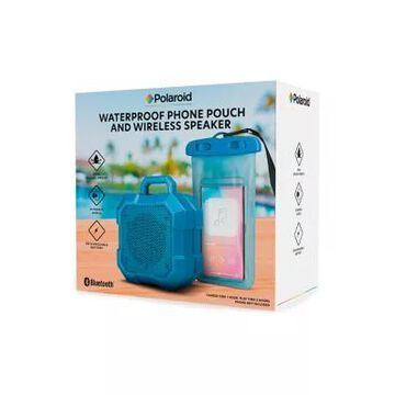 Polaroid Waterproof Phone Pouch And Wireless Speaker -