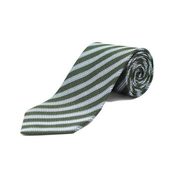 Ermenegildo Zegna Men's Silk Textured Striped Tie Blue/Green - No Size