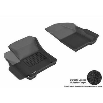 3D MAXpider 2012-2016 Dodge Journey Front Row All Weather Floor Liners in Black Carpet