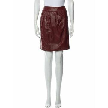 Lamb Leather Knee-Length Skirt