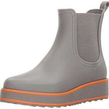 Bernardo Women's WILLA RAIN Boot, Grey Rubber, 11M M US