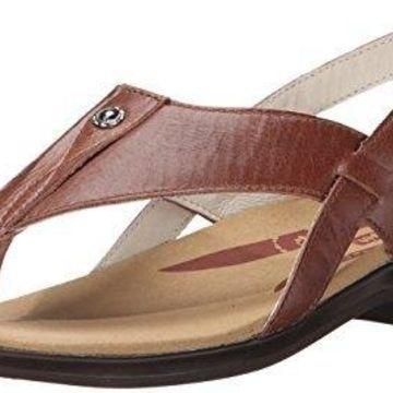 Propet Women's Mariko Slide Sandal, Chestnut, 6 2E US