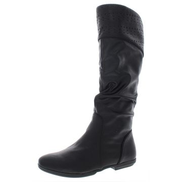 Seven Dials Womens Dillon Faux Suede Slouchy Knee-High Boots