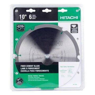 Hitachi HardiBlade 10 in. Dia. x 5/8 in. 18108 Polycrystalline Diamond Fiber Cement Blade 6 teeth