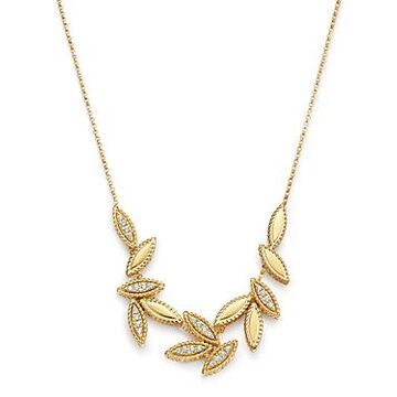 Roberto Coin 18K Yellow Gold Diamond Petals Diamond Cluster Necklace, 16 - 100% Exclusive