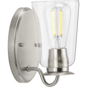 Progress Lighting Durrell 1-Light Nickel Coastal Vanity Light   P300261-009