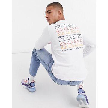 ellesse repeat logo backprint t-shirt in white