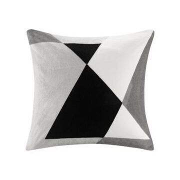 """Ink+Ivy Aero 20"""" x 20"""" Embroidered Abstract Square Pillow"""