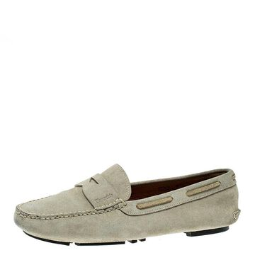 Church's Grey Suede Penny Loafers Size 38.5