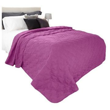 Solid Color Quilt by Lavish Home King, Purple