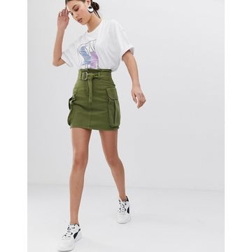ASOS WHITE utility pocket skirt
