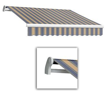 Awntech 288-in Wide x 120-in Projection Striped Vertical Patio Retractable Motorized Awning