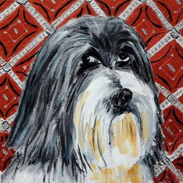Marmont Hill - Handmade Lhasa Apso Print on Wrapped Canvas