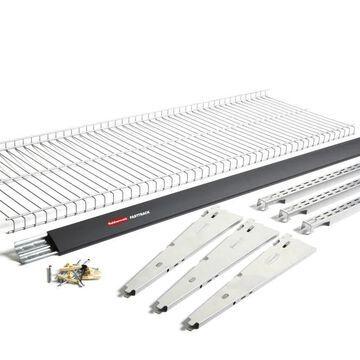 Rubbermaid FastTrack Garage 9-Piece Silver Steel Wire Shelf Starter Kit in Gray   2091174